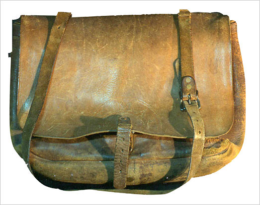 A letter carrier's leather bag