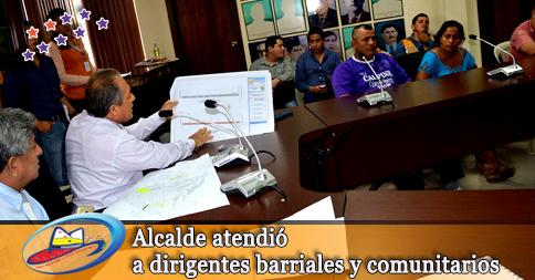 Alcalde atendió a dirigentes barriales y comunitarios