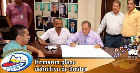 Firmaron plano definitivo de límites