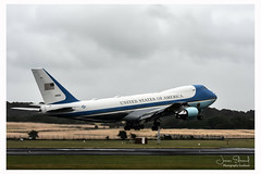 Prestwick Airport Scotland on the Day President Trump departs Scotland