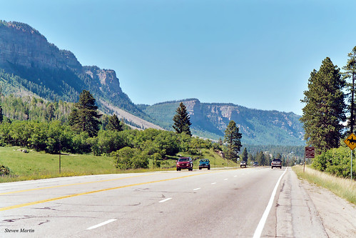 landscape scenery road highway mountains durango colorado