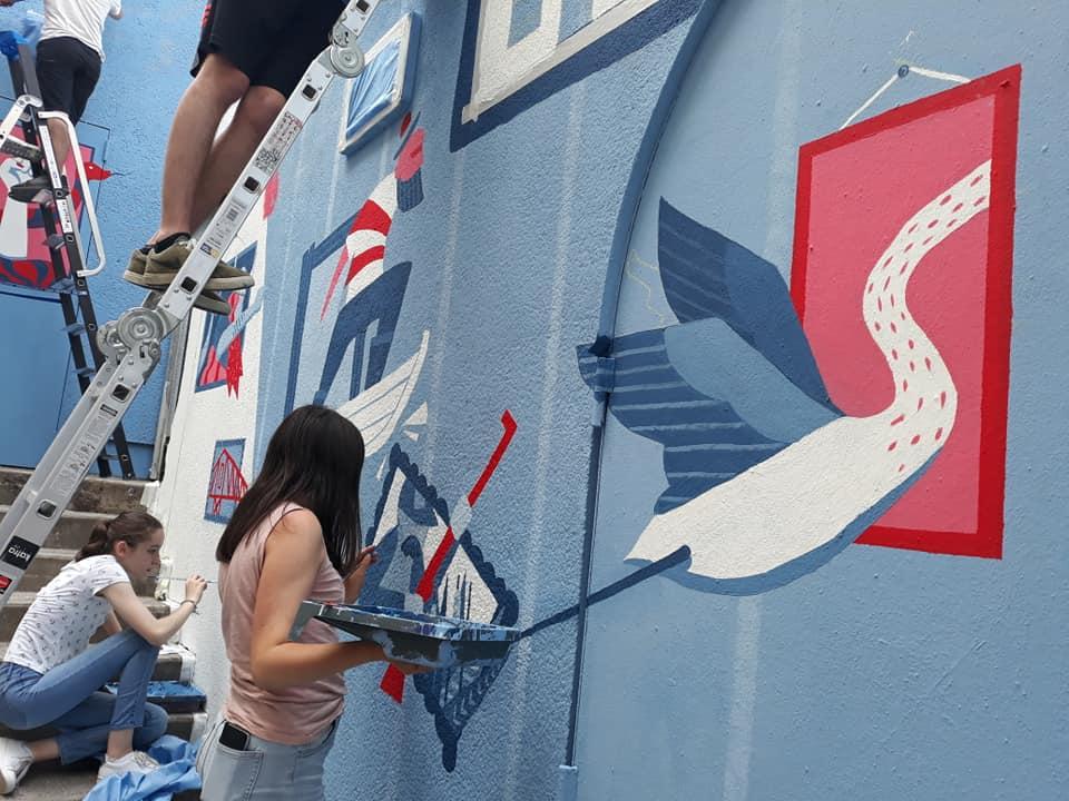 Fresque rue d'Ancin - 2018