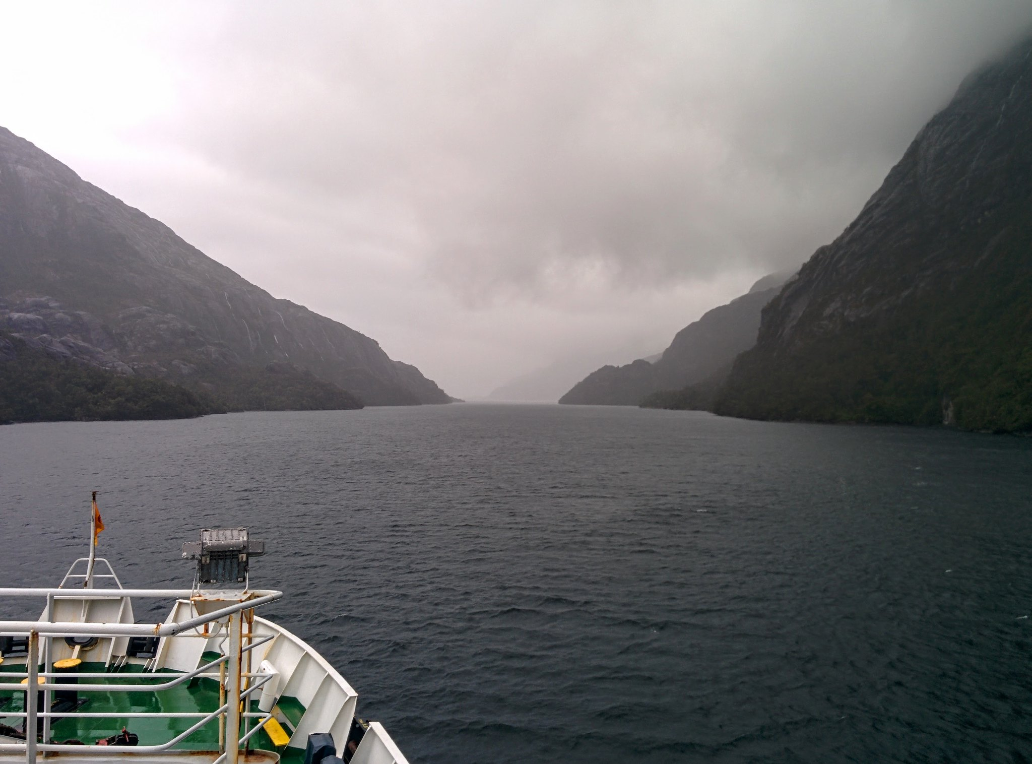 A narrow pass from the deck of the Eden