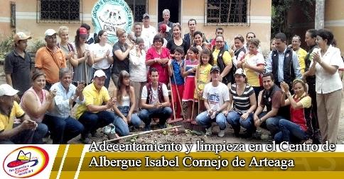 Adecentamiento y limpieza en el Centro de Albergue Isabel Cornejo de Arteaga