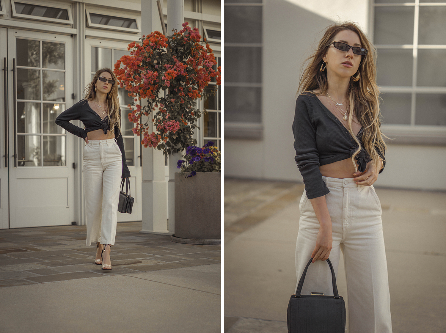 high_waisted_wide_white_jeans_clear_shoes_heels_street_style_outfit_fashion_blogger_vintage_lena_juice_the_white_ocean_02