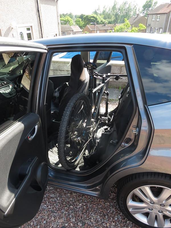 Honda Jazz  29er Moutain Bike inside? It fits!