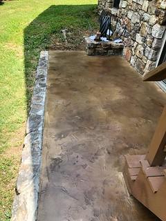 Tuscan Slate Porch- Tailored Concrete Coatings- Linden, VA