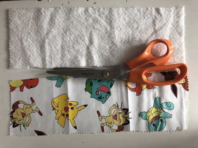 Sewing a tooth fairy pillow with Pokémon fabric. This 20-minute project has high impact with bold fabric or bias tape. Read more on EvinOK.com