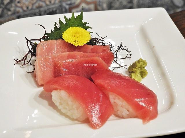 Assorted Bluefin Tuna Fish Sashimi And Sushi