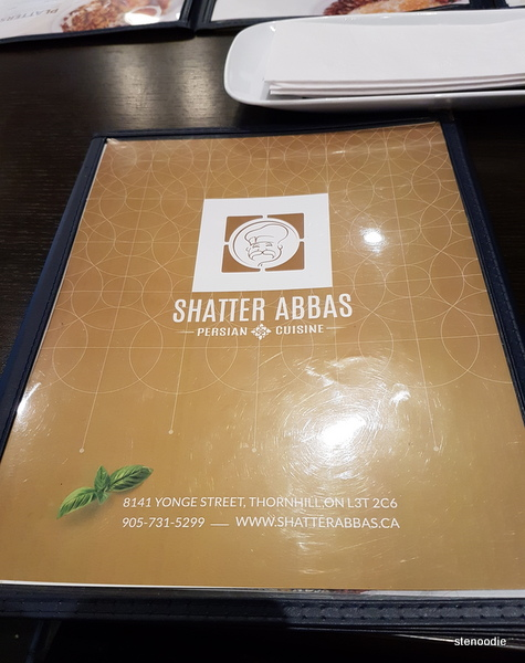 Shater Abbas menu cover