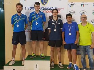 Il podio del campionato regionale di terza categoria