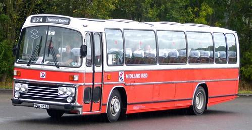 SOA 674S 'Midland Red' No. 674 NBC D/P/ livery. Leyland Leopard / Plaxton Supreme III on Dennis Basford's railsroadsrunways.blogspot.co.uk
