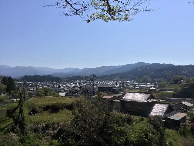 岩村 石室千体仏から見た岩村市街 IMG_2721
