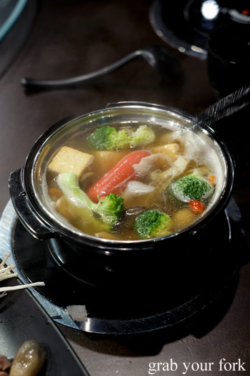 Individual hotpots at Hotpot City in Bankstown