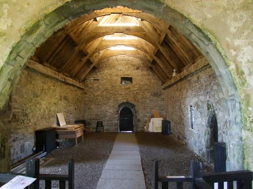 Clare Island, County Mayo, Cistercian Monastery, interior looking west