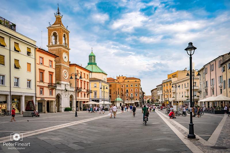 Piazza Tre Martiri, Rimini Italy