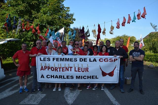 le 26 juin 2018 , à l'occasion de la venue de Charles Michel à mons