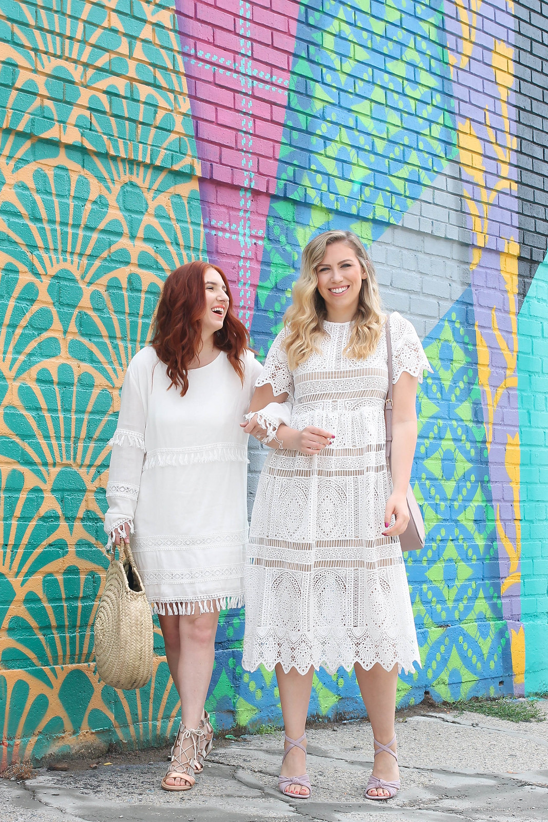 Little White Dress Outfit Inspiration Colorful Wall Astoria New York