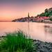 Sonnenuntergang in Lauenburg an der Elbe