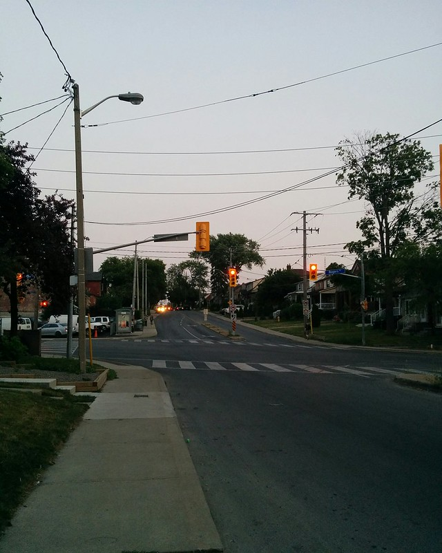 Looking south, Caledonia and Rogers #toronto #caledoniafairbank #caledoniaroad #rogersroad #intersection