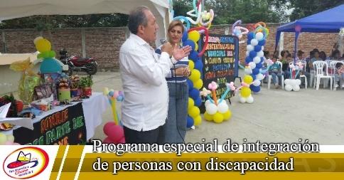 Programa especial de integración de personas con discapacidad