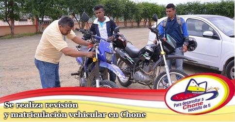 Se realiza revisión y matriculación vehicular en Chone