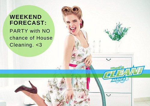 YES! WEEKEND. Put your party dress on! #saturyay #housecleaning #weekendwithnochanceofcleaning #tcmtip https://t.co/8qsQyFDNCf