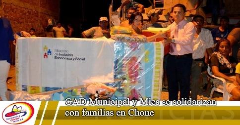 GAD Municipal y Mies se solidarizan con familias en Chone