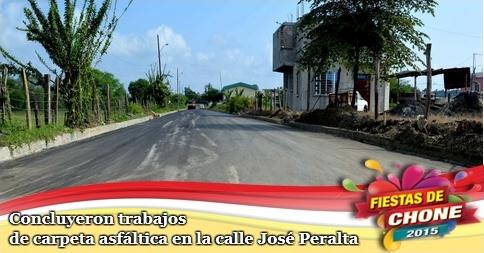 Concluyeron trabajos de carpeta asfáltica en la calle José Peralta
