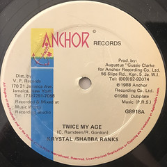 KRYSTAL & SHABBA RANKS:TWICE MY AGE(LABEL SIDE-A)