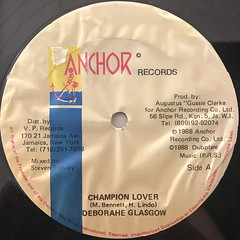 DEBORAHE GLASGOW:CHAMPION LOVER(LABEL SIDE-A)