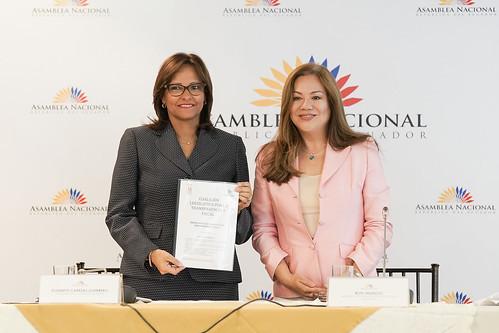 RUEDA DE PRENSA DE LA PRESIDENTA DE LA ASAMBLEA NACIONAL DE LA INICIATIVA POR LA TRANSPARENCIA FISCAL, QUITO 18 DE JULIO 2018