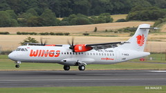 F-WWEN (to be PK-WJG) Wings Air ATR 72-600 arriving at Prestwick from