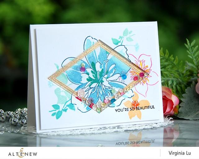 Altenew-FloralArt-GeoFrameStampDie-Virginia#1