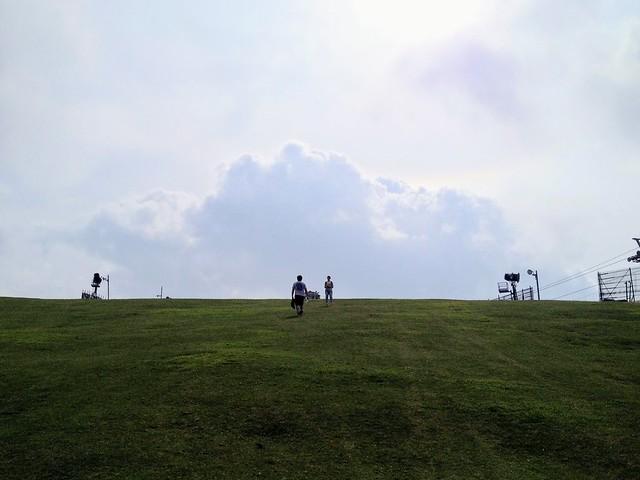 蓬莱山 ゲレンデ登り