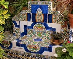 """Detalle en el Patio donde está la Tumba de José Mª """"El Tempranillo"""" Alameda (Málaga)"""