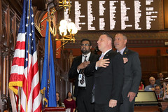 Rep. Rob Sampson leading the CT House of Representatives in the Pledge of Allegiance on May 1, 2018.