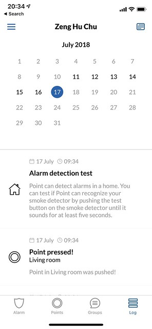 Point iOS App - Logs Calendar