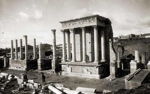 Mérida. Frente escénico del teatro romano