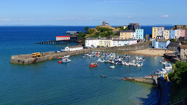 Tenby Harbour at high tide