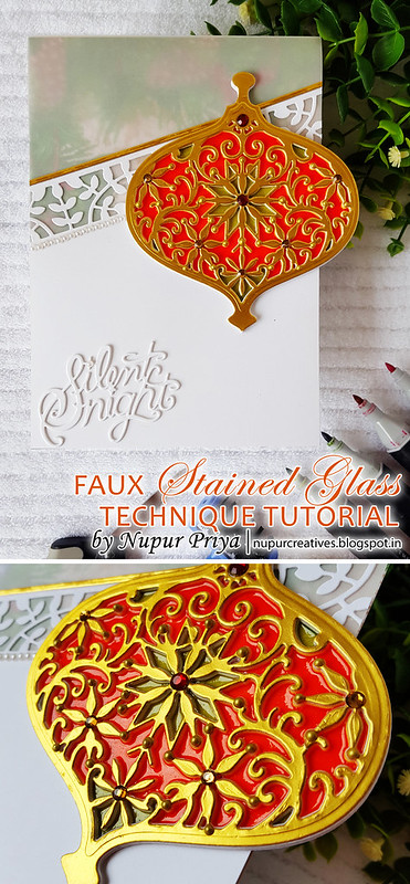 Faux Stained Glass Ornament Card  Pinterest