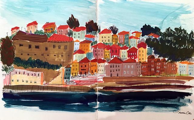 Gaia gouache Porto