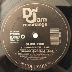 SLICK RICK:TEENAGE LOVE(LABEL SIDE-A)