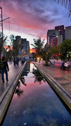 sunset bogota colombia tramonto puestadesol