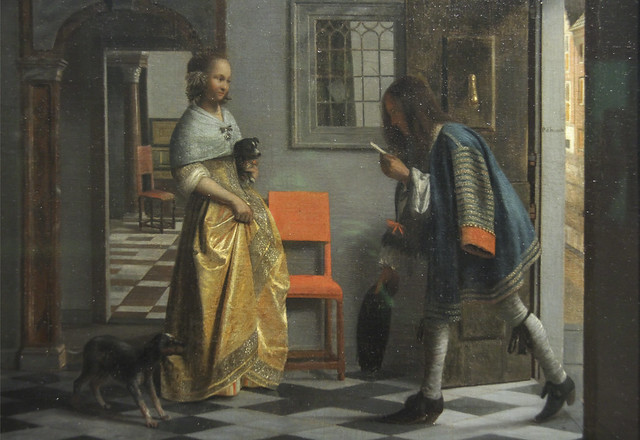 Detail - The Messenger of Love, Pieter de Hooch,c.1670