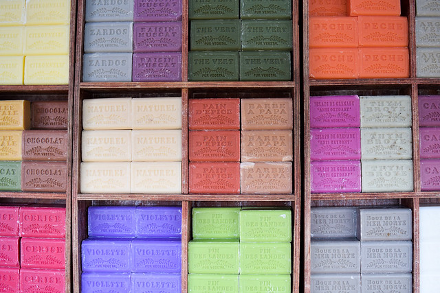 Provincial Soaps at Sarlat Market, South West France #soap #sarlat #market #farmersmarket #france #dordogne