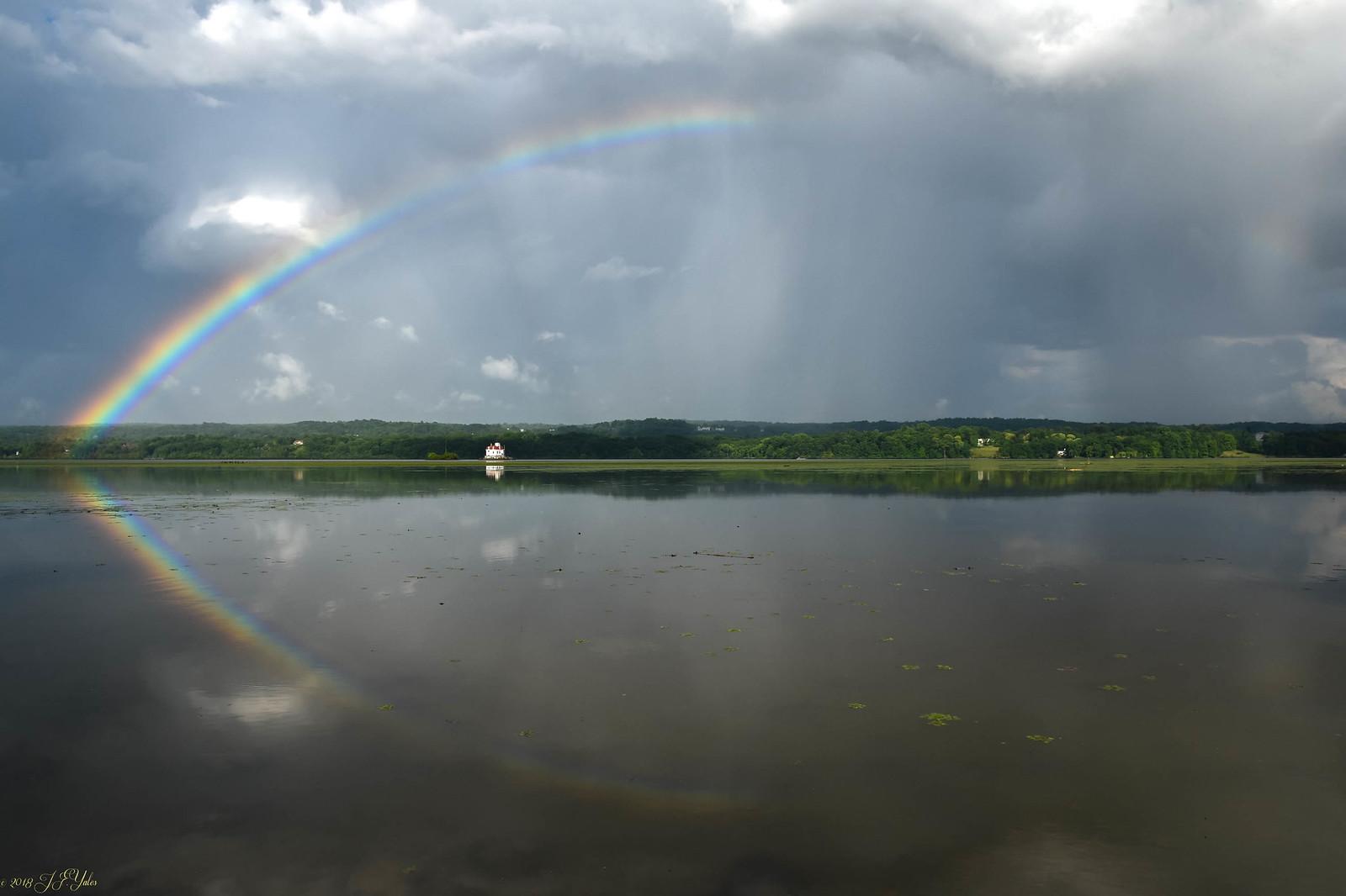 Rainbow over Esopus lighthouse