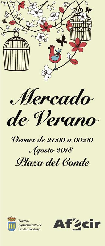 AFECIR impulsa el I Mercado de Verano de Ciudad Rodrigo que acerca el comercio nocturno a la Plaza del Conde