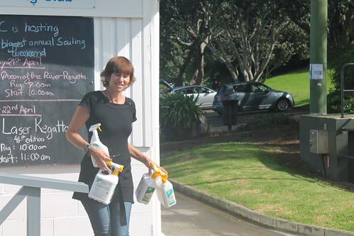 Shaaron McKee with her winnings