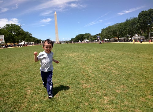 Ezra on the National Mall